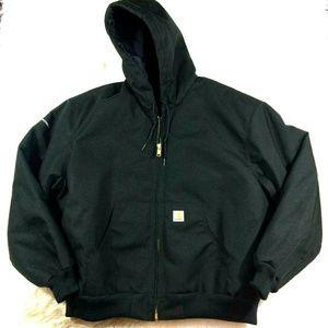 Carhartt Extremes Black Zip Front Jacket Hood